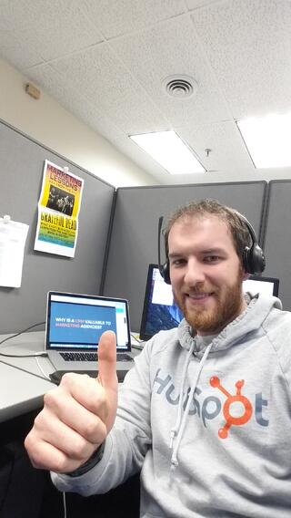 Nick_watching_his_first_HubSpot_Partner_Broadcast_from_his_desk_at_IMR_Corp_2016-02-18_12.15.49.jpg