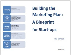 HubSpot Reboot - Building the Marketing Plan, a Blueprint for Startups by Ilya Mirman