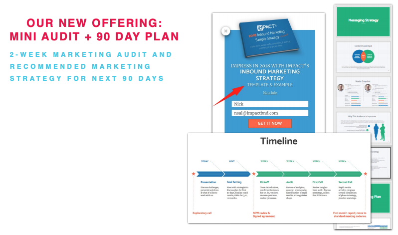 IMPACTs new 90 day audit and strategy offering
