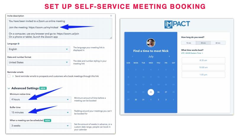 Setup Self-Service Meeting Booking Using HubSpot Sales Hub